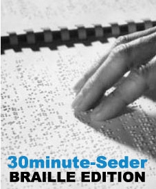 30minute-Seder Haggadah: BRAILLE BOOK