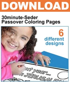30minute-Seder: Passover Coloring Pages DOWNLOAD